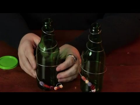 Decorating glass bottles with wire beads assorted - How to decorate glass bottles ...