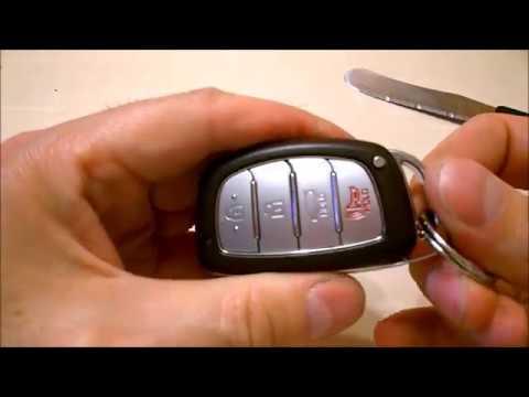 Hyundai Sonata / Elantra / Tucson / Grandeur / Azera / Kona  Key fob battery replacement