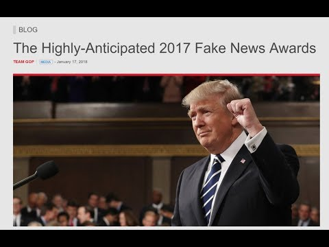 🔴President Trump Announces the Fake News Awards - LIVE COVERAGE