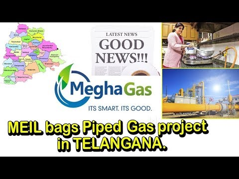 MEIL to Provide Piped Gas Across Telangana | Megha Gas Project | Best Projects In India