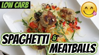 HOW TO COOK SPAGHETTI SQUASH (Low Carb Spaghetti And Meatballs Recipe)