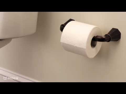 moen pivoting toilet paper holder youtube. Black Bedroom Furniture Sets. Home Design Ideas
