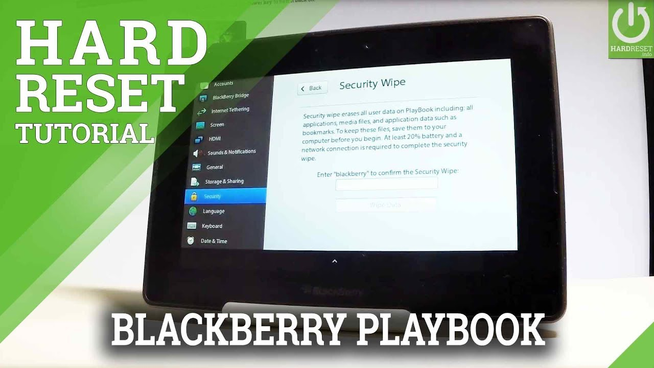Hard Reset Blackberry Playbook How To Hardreset Info