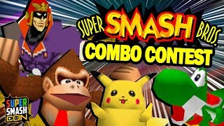 THE BEST SMASH 64 COMBOS!! | Smash Con 2019 Smash 64 Combo Contest Highlights Video