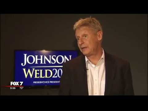 Libertarian presidential candidate Gary Johnson holds rally in Austin | 9/2016
