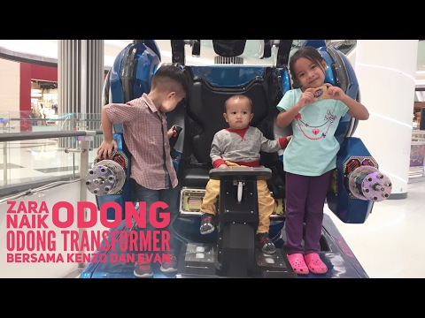 Zara Main ODONG ODONG TRANSFORMER !!! Odong Odong Robot Di Puri Indah Mall