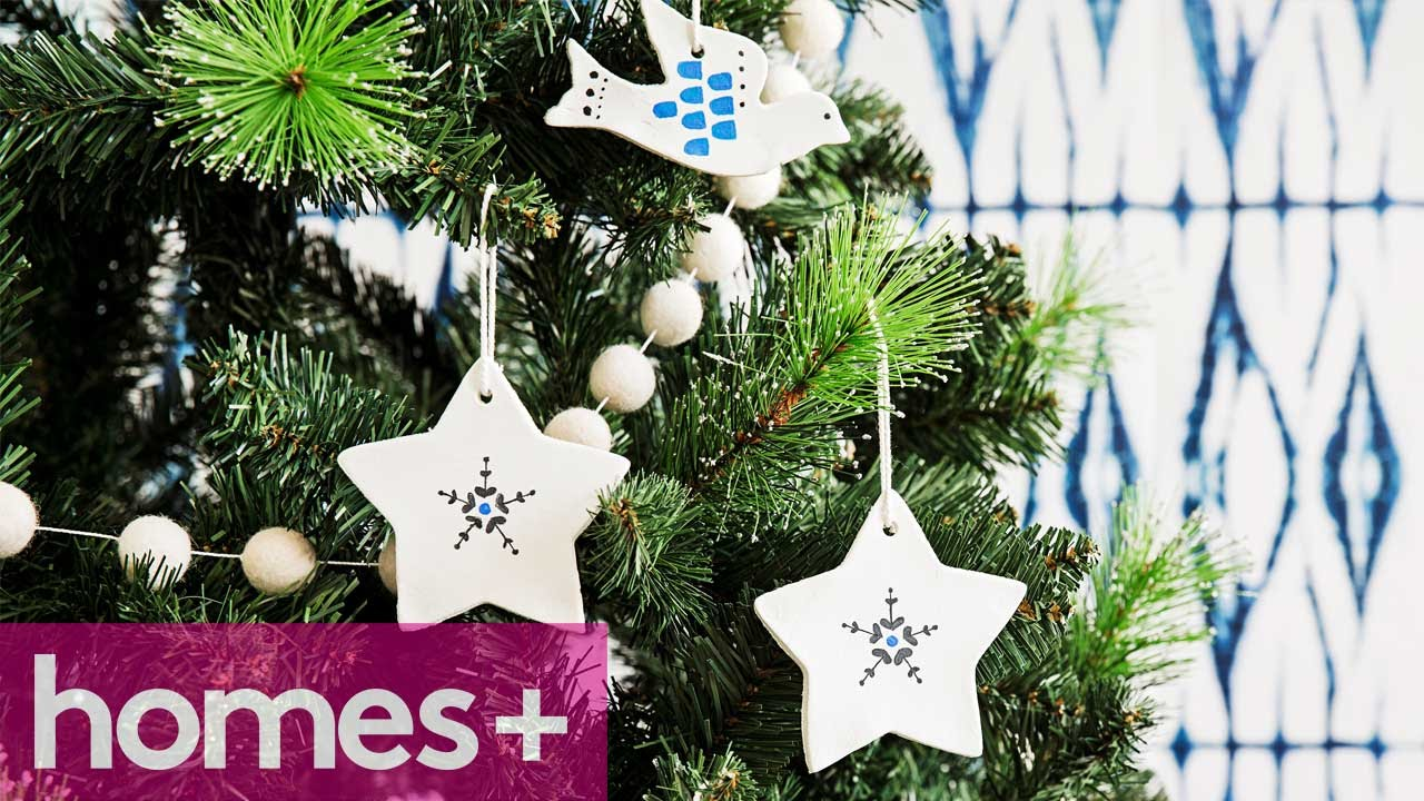 diy idea ceramic christmas star decorations homes youtube - Ceramic Christmas Decorations