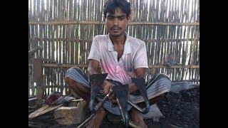 How To Make Hoe/Weeding-Tool/Weeding-Hook/Nirani by Hand | Blacksmith Making Iron Hoe