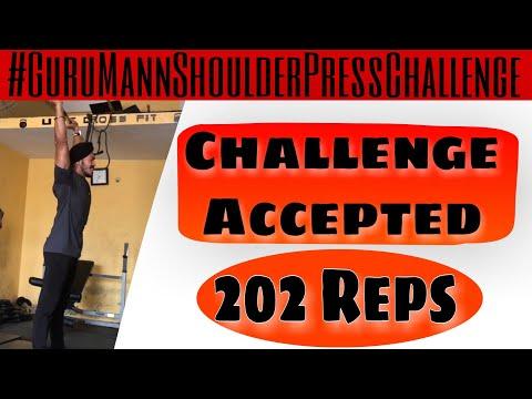 Guru Mann Shoulder Press Challenge | 202 Reps | Olympic Barbell | Super Singh