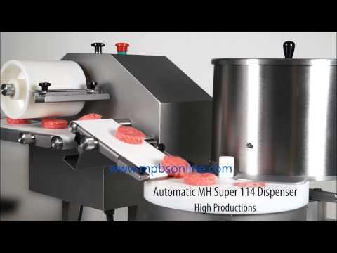 Gesame MH Series Meatball and Hamburger Patty Machine - 323-268-8514