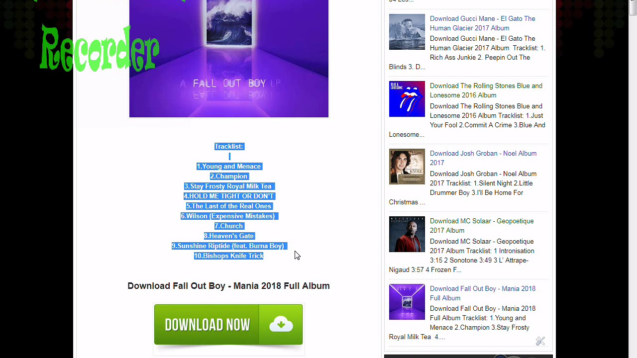 fall out boy mania album download zip free