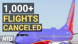 Southwest Cancels More Than 1,000 Flights; Pentagon Sued Over Vaccine Mandate   NTD