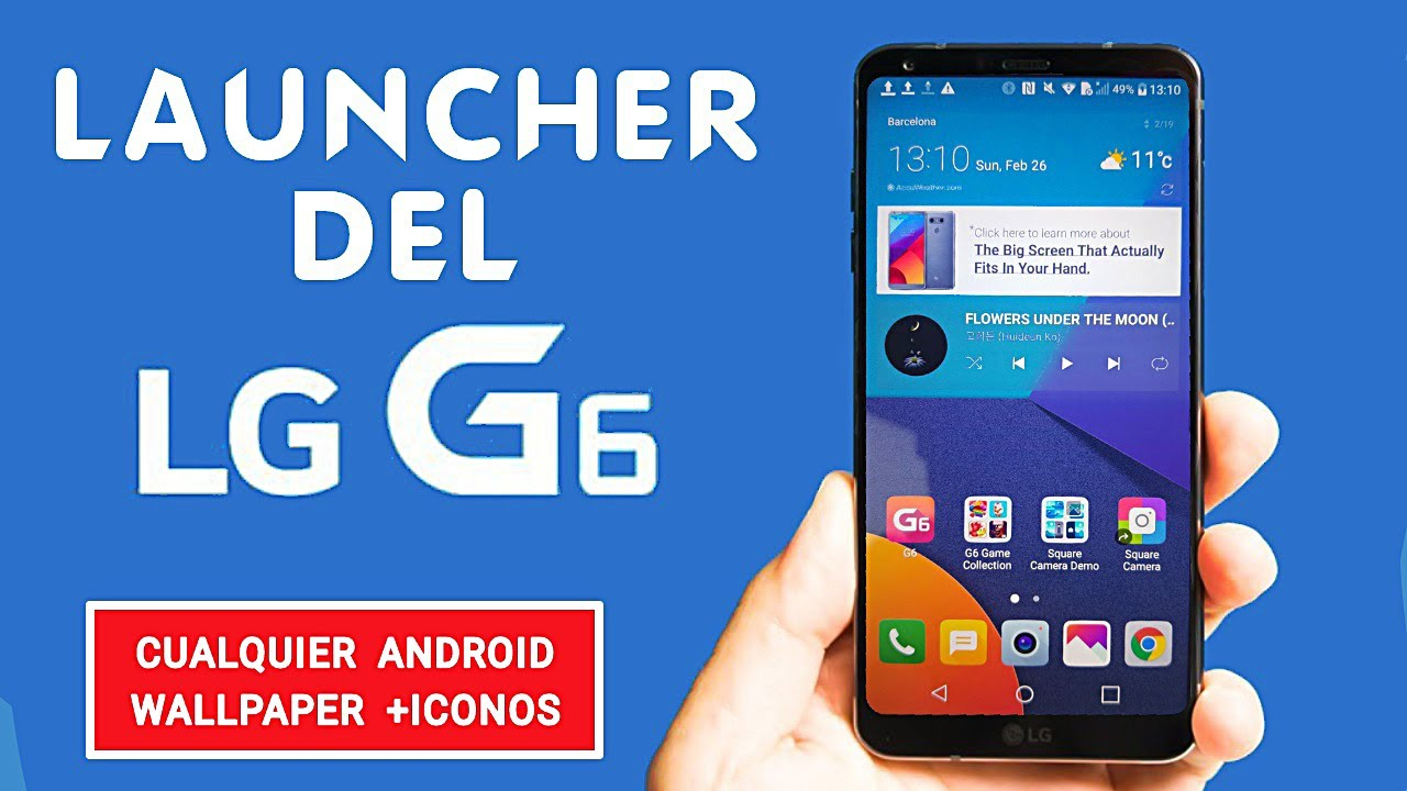 Launcher del LG G6 /APK + Iconos | para Cualquier Dispositivo | No Root |  Android Full Pro ◀︎ 2017