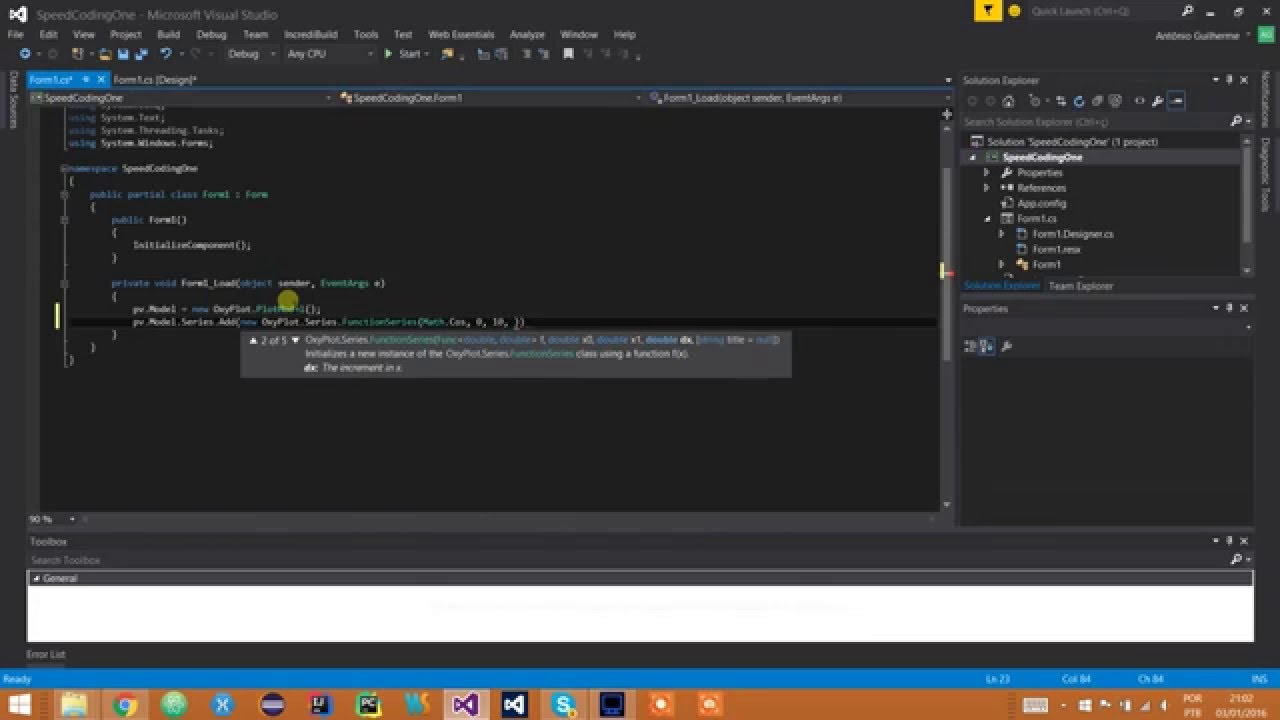 Showoff [C#] - Plotting Functions With OxyPlot #1