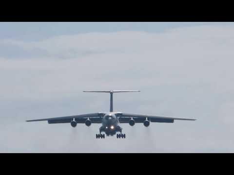 Turkmenistan Ilyushin IL-76TD landing in Brno BRQ