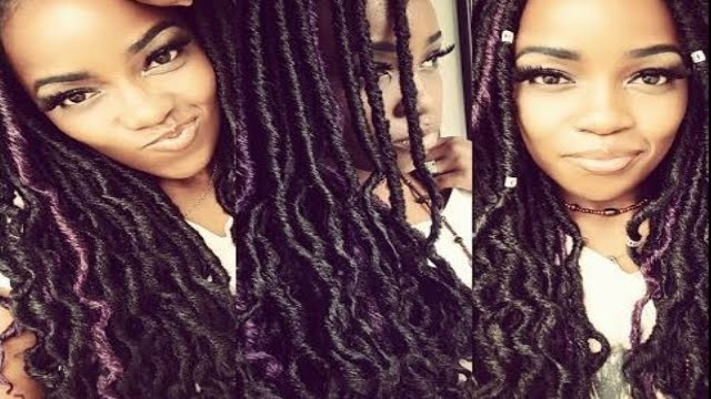 FAUX GODDESS LOCS CROCHET 1 HR. INSTALL! - YouTube