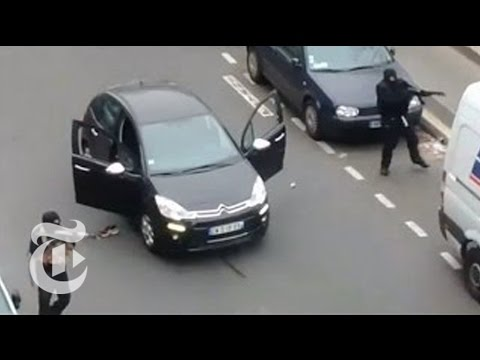 Eyewitness Videos of Paris Shooting Terror Attack at Charlie Hebdo | The New York Times