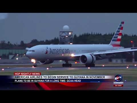 AMERICAN AIRLINES TO BEGIN SERVICE TO GUYANA IN NOVEMBER