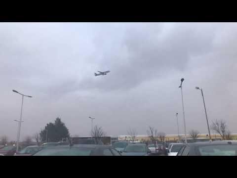 Rainy weather takeoff Amman, Jordan  الممطر في مطار الملكة علياء