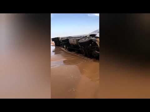 Наводнение.Саудовская Аравия.Страшные кадры.