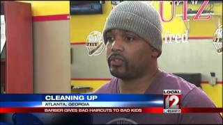 Barber offers bad haircuts to discipline kids