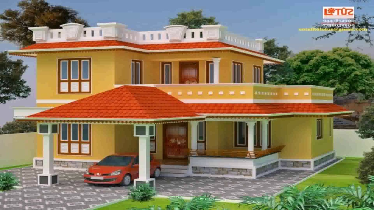 House designs kerala style low cost youtube for Low cost house plans in kerala with images