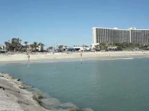 View Of The Beach In Galveston Texas Across From Hilton