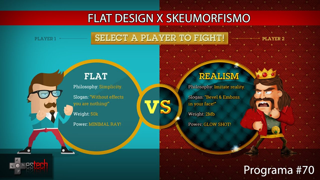 Flat design x skeumorfismo youtube for Flat design pictures