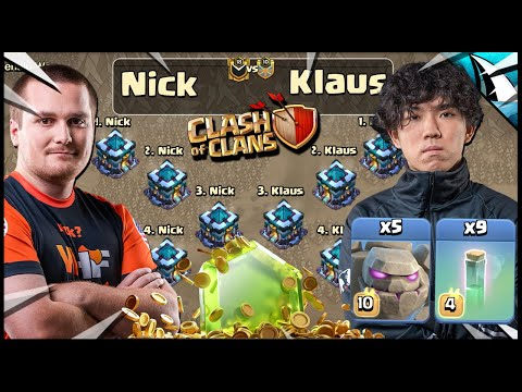 Klaus used 5 Golems & 9 Invisibility Spells vs Nick!!! PRO vs PRO!! - CarbonFin Gaming