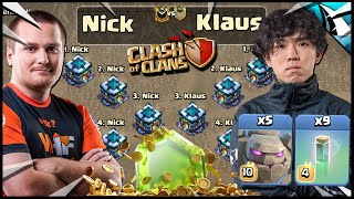 Klaus used 5 Golems & 9 Invisibility Spells vs Nick!!! PRO vs PRO!!