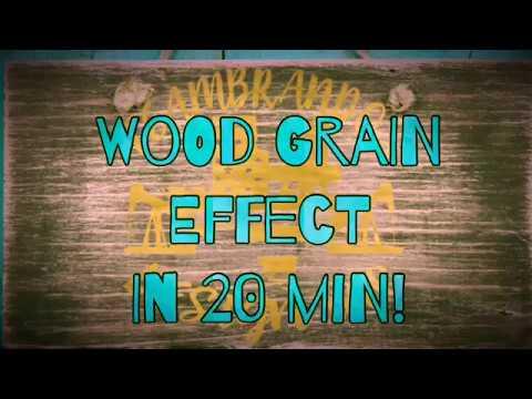 Woodgrain Effect in 20 min!