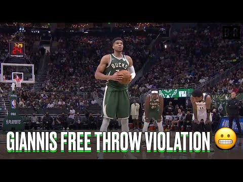 Giannis Gets Hit With Another 10 Second Free Throw Violation