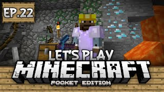 Survival Let's Play Ep. 22 - Dungeons and Diamonds!!! - Minecraft PE (Pocket Edition)