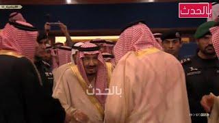 لحظة إفتتاح الملك سلمان الجنادرية وسط ترديد الأطفال عاش سلمان