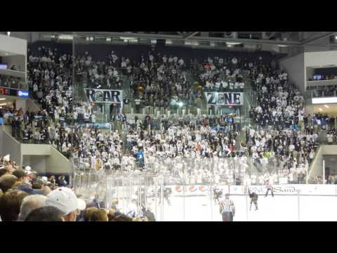 The Penn State ice hockey Roar Zone Student Section at Pegula Ice Arena