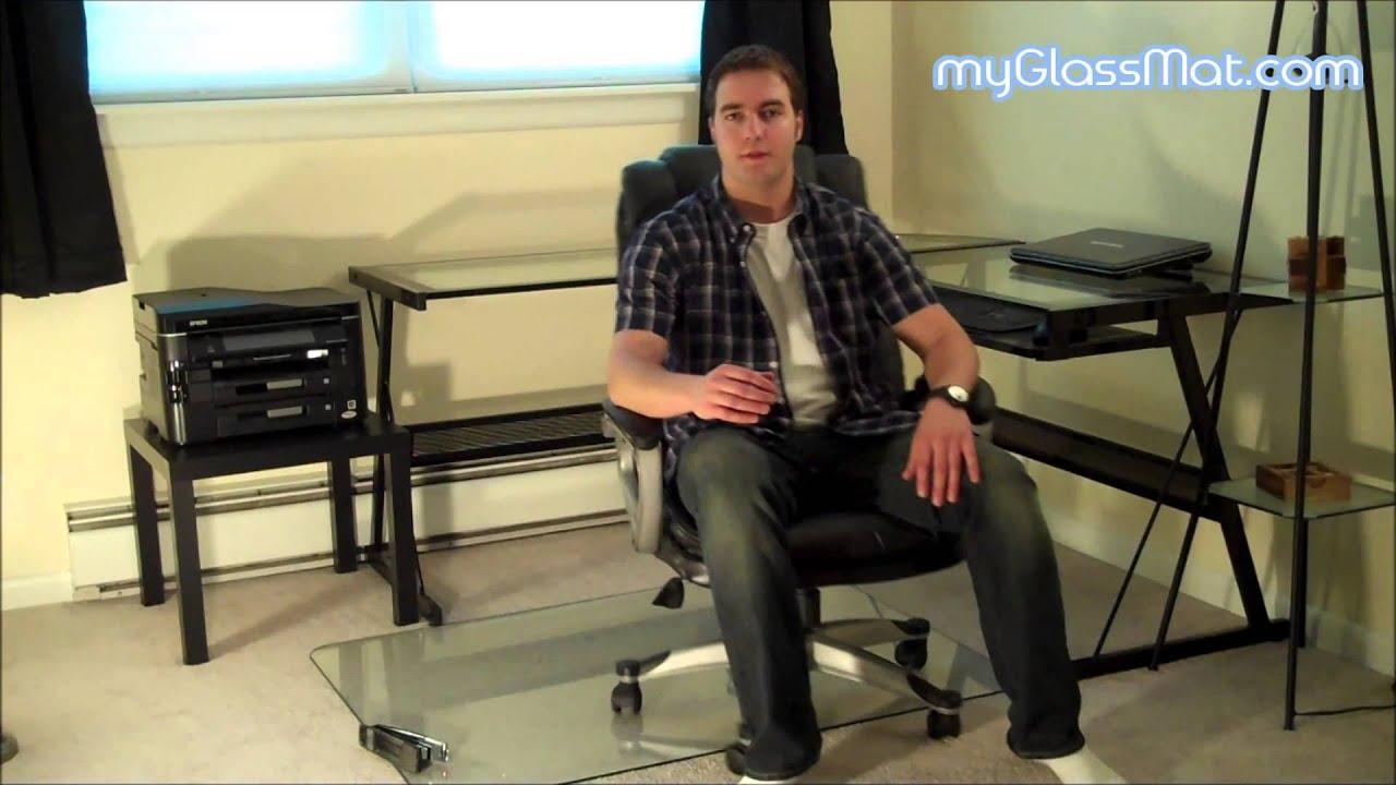 Desk Chair Glass Mat Outdoor Wicker Rocking Canada Buy A Attractive Lifetime Solution Myglassmat Com