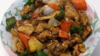 ✰ Китайская кухня ✰ Свинина в кисло-сладком соусе с ананасом.  Sweet and sour pork recepe