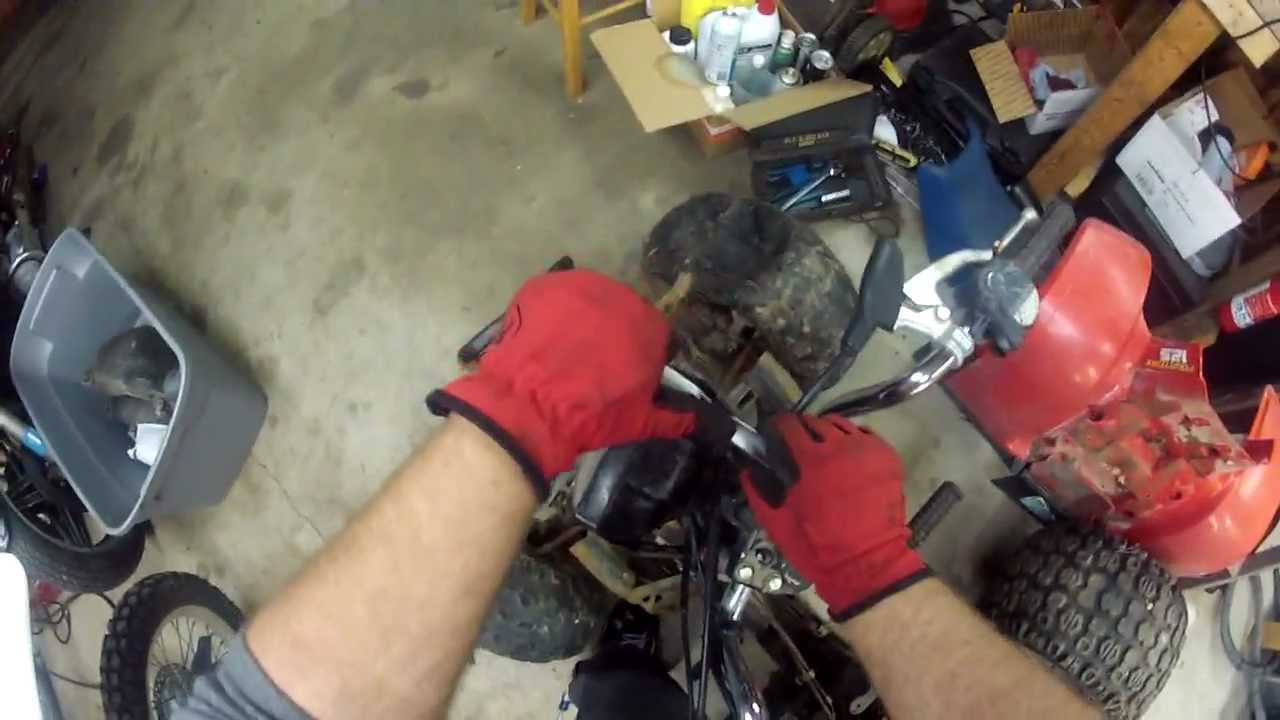 hight resolution of 1986 honda trx 125 dash and ignition removal
