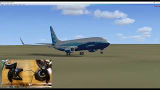 Thrustmaster T flight Hotas X in game usage // FSX // 737
