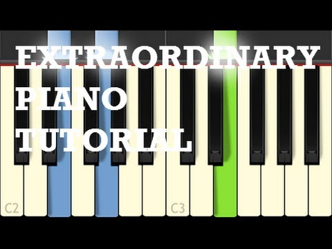 Extraordinary Piano Tutorial - Clean Bandit - How To Play On Piano - Synthesia