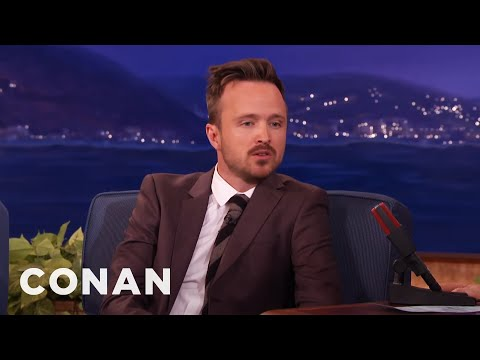 Aaron Paul Used To Dream As Jesse Pinkman   CONAN on TBS