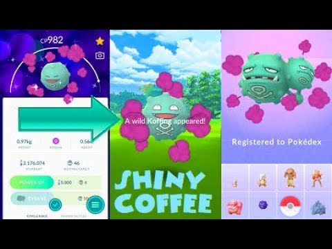 Image result for shiny koffing in pokemon go