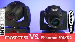 Showtec Phantom 50 VS. Involight ProSpot50   Produktbattle