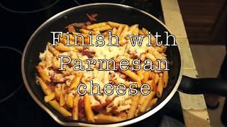 Garlic Bacon Tomato Pasta Recipe - Super easy Pasta sauce