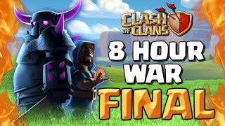 Clash of Clans - 8 HOUR WAR TOURNAMENT FINAL! Elite Gaming vs King Jeffrey - CoC Clash Cup 'Just 8'