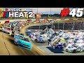 DARLINGTON DESTRUCTION! (Fantastic Finish!) |#45| NASCAR Heat 2 Career