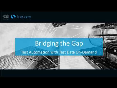 Bridging the Gap: Test Automation with Test Data on Demand