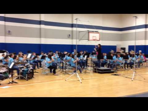 Forestwood Middle School Band 2014 radioactive fox