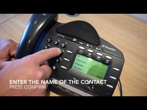How to add a phone number into BT Versatility phone book