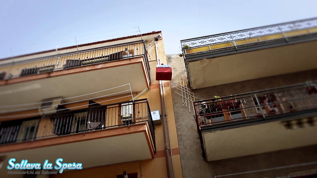 Solleva la spesa montacarichi da balcone per la spesa for Braccio per paranco elettrico
